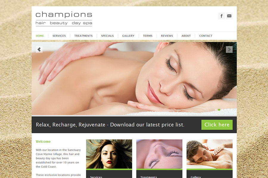 Thiet ke website - tao web spa